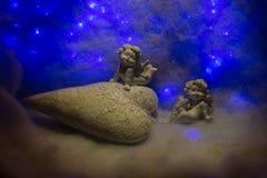 Petites figurines d'ange Photographie stock