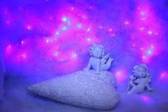Petites figurines d'ange Photographie stock libre de droits
