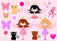 Petites filles illustration stock