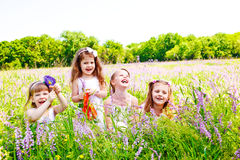Petites filles joyeuses Photos libres de droits