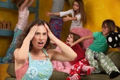 Petites filles malfaisantes Image libre de droits