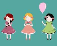 Petites filles mignonnes illustration de vecteur