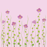 Petites fleurs roses Images libres de droits