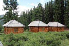 Petites maisons de reste sur un camping Images libres de droits