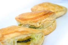 Petites pâtisseries d'épinards photos libres de droits