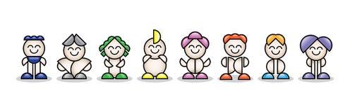 petites personnes 3d colorées Images libres de droits