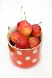 Petites pommes rouges Photographie stock libre de droits