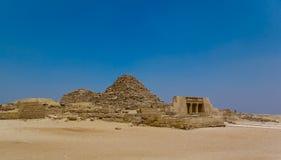 Petites pyramides - vue panoramique Photos stock