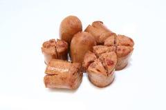 Petites saucisses de coupure Image stock