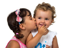 petites soeurs Photo stock