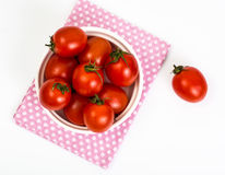 petites tomates rouges Photographie stock