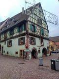 Petites villes décorées pour Noël Strasbourg - Alsace, France Image libre de droits
