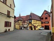 Petites villes décorées pour Noël Strasbourg - Alsace, France Image stock