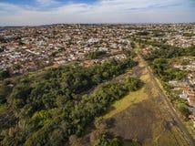 Petites villes en Amérique du Sud photo stock