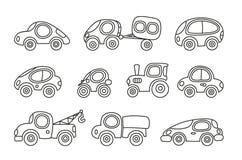 Petites voitures réglées Image libre de droits