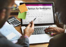 Petition Bankruptcy Debt Loan Overdrawn Trouble Concept Royalty Free Stock Photography