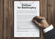 Petition Bankruptcy Debt Loan Overdrawn Trouble Concept Royalty Free Stock Image