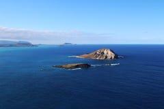 Petits îlots inhabités, Hawaï Photographie stock libre de droits
