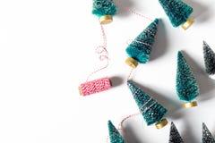 Petits arbres de Noël d'en haut Photo stock