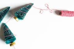 Petits arbres de Noël d'en haut Images libres de droits