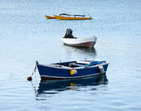 Petits bâteaux de pêche Photographie stock