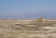 Petits bâtiments industriels abandonnés Images stock