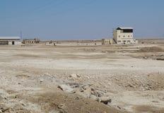Petits bâtiments industriels abandonnés Image libre de droits