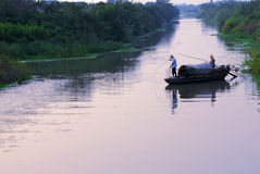 Petits bateaux de pêche Photographie stock libre de droits
