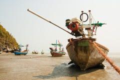 Petits bateaux de pêche Photographie stock