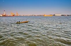 Petits bateaux de pêche Image libre de droits