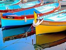 Petits bateaux de pêche Photos stock