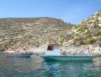 Petits bateaux de pêche Photo libre de droits