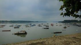 Petits bateaux de pêche image stock