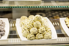 petits biscuits dans une boutique de pâtisserie Photo stock