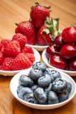 Petits bols de fruit Photographie stock libre de droits