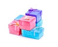 Petits cadres de cadeau pour le bijou Photographie stock