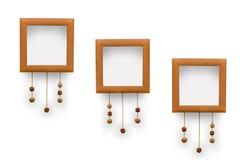 Petits cadres de photo Dentelles d?coratives avec des perles d'argile illustration de vecteur