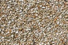 Petits cailloux bruns et jaunes Photo libre de droits