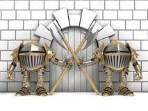 Petits chevaliers gardant les portes Illustration de Vecteur