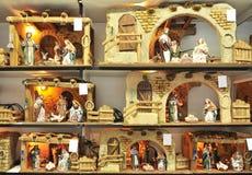 Petits chiffres de Belen, famille sainte, marché de Noël Image libre de droits