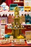 Petits chiffres en bois faits main de jouet photo stock