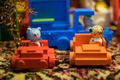 Petits chiffres en bois faits main de jouet photo libre de droits