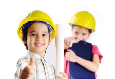 Petits constructeurs images libres de droits