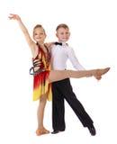 Petits couples de danseurs Photo stock