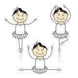 Petits danseurs de ballet mignons pour votre conception Image stock