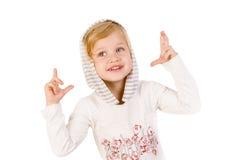 Petits doigts mignons de croisement de fille Photographie stock libre de droits