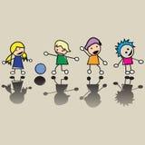Petits enfants heureux Image stock