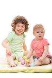 Petits enfants heureux Images libres de droits