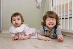 Petits enfants mignons Images libres de droits