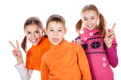 Petits enfants riants Photos libres de droits